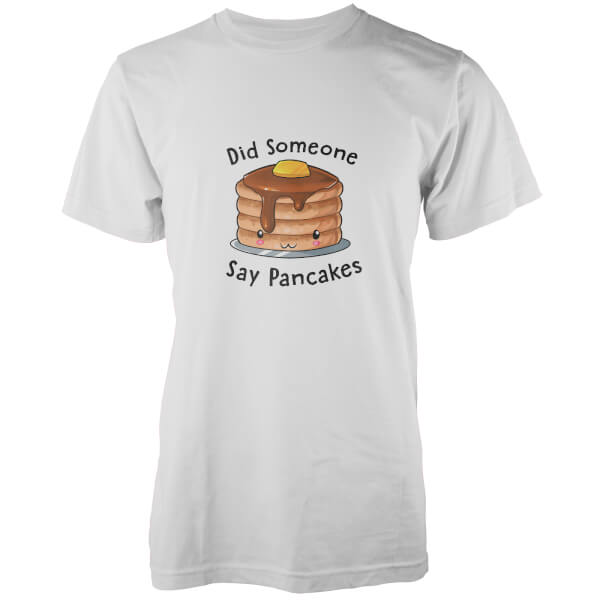 Kawaii Did Someone Say Pancakes White T-Shirt