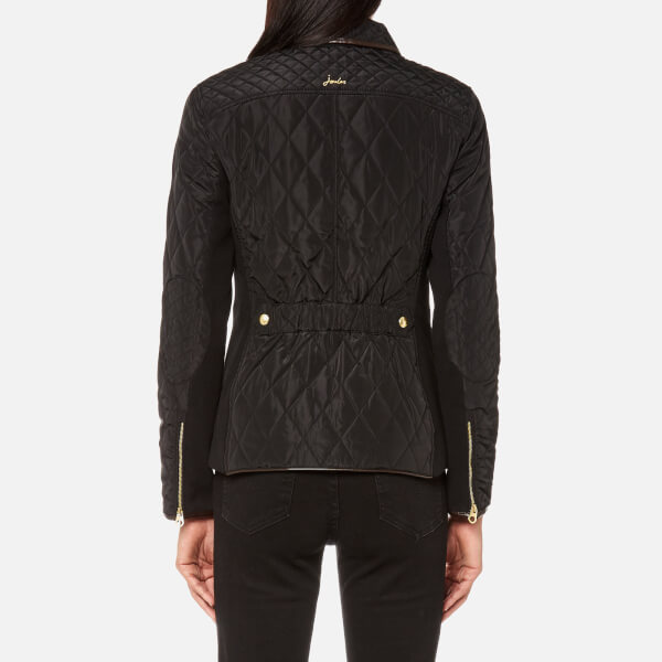 Joules Women's Marchesa Quilted Coat - Black Womens Clothing ... : joules quilted jacket sale - Adamdwight.com