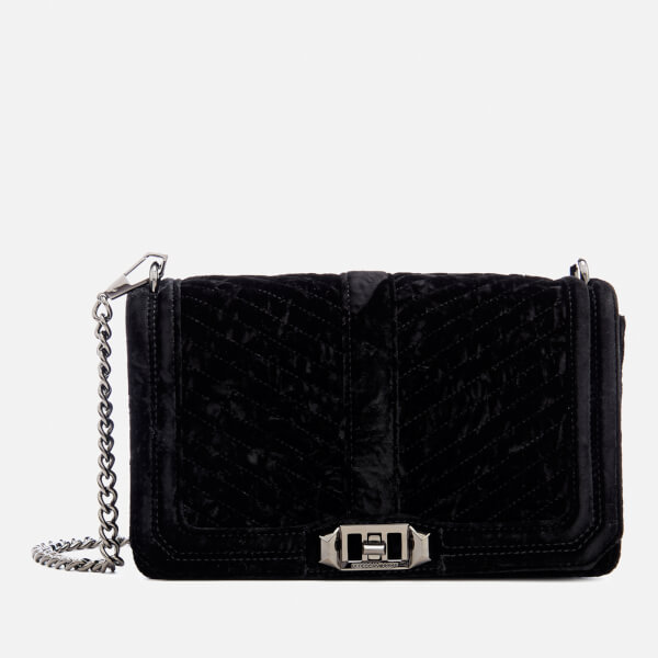 Rebecca Minkoff Women S Chevron Velvet Quilted Love Cross