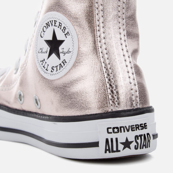 c4c2bb0d4637 Converse Kids Chuck Taylor All Star Hi-Top Trainers - Rose Quartz White
