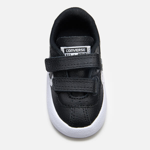 386e5427026817 Converse Toddlers  Breakpoint 2V Leather Ox Trainers - Black White Black   Image