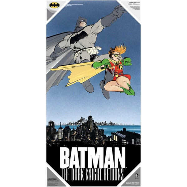 The Dark Knight Returns Glass Poster - Batman and Robin (60 x 30cm)