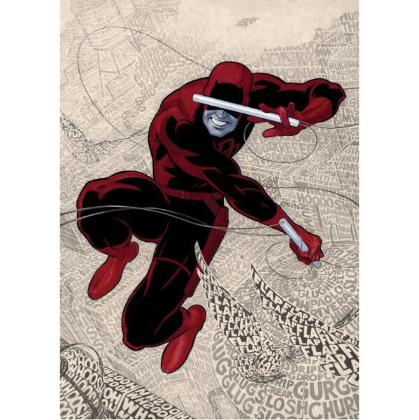 Marvel Comics Metal Poster - Devil of Hells Kitchen Text Art Daredevil (68 x 48cm)