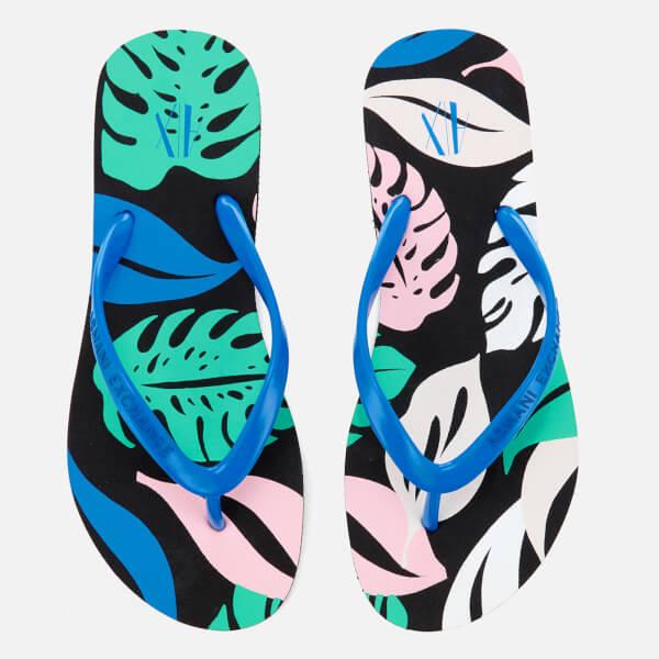 Armani Exchange Women's Flip Flops - Pattern Leaves