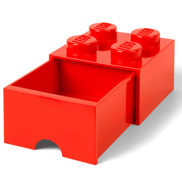 LEGO Storage 4 Knob Brick   1 Drawer (Bright Red): Image 2