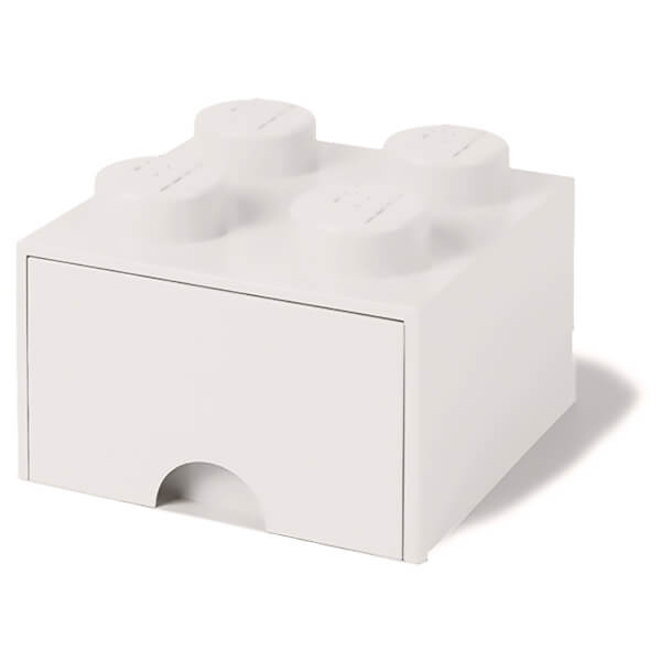 LEGO Storage 4 Knob Brick   1 Drawer (White): Image 1