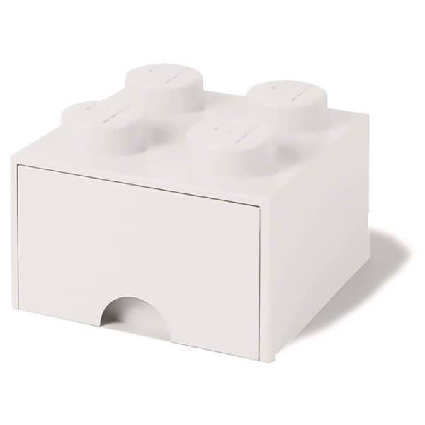 LEGO Storage 4 Knob Brick - 1 Drawer (White)