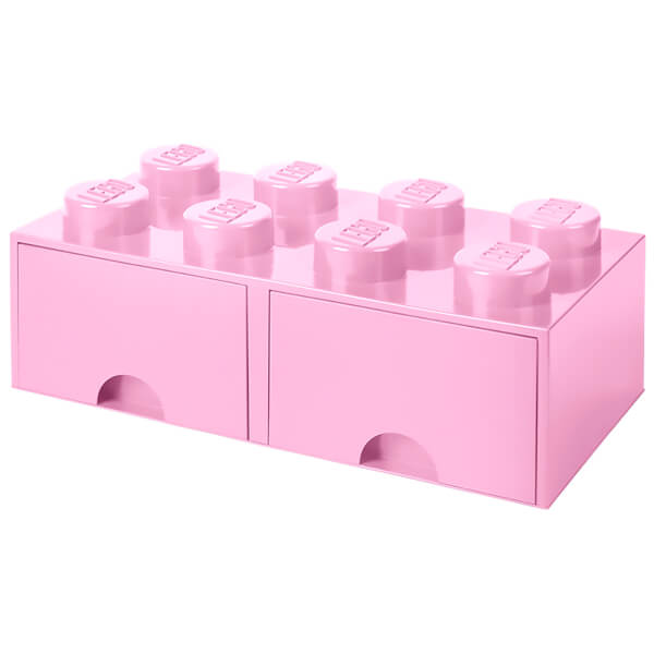 Ordinaire LEGO Storage 8 Knob Brick   2 Drawers (Light Pink): Image 1
