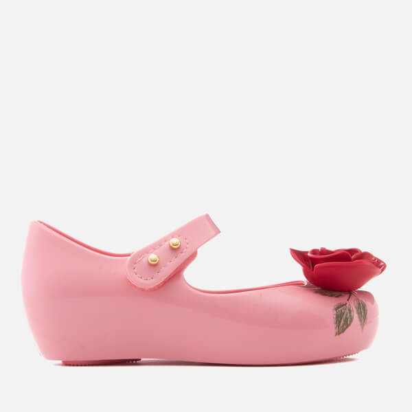 Mini Melissa Toddlers' Disney Ultragirl 18 Beauty Ballet Flats - Pink Rose