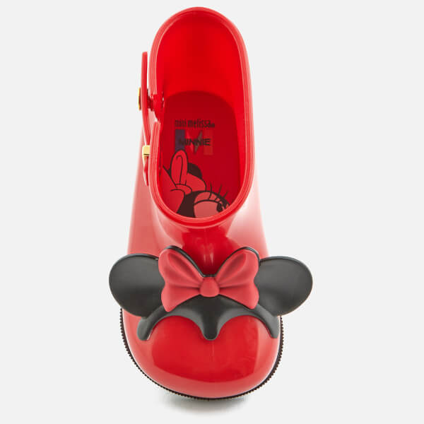 c3597ad7171 Mini Melissa Toddlers  Disney Sugar Rain Minnie Mouse Ears Boots - Red   Image 3