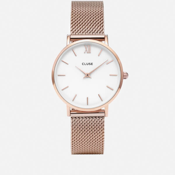 Cluse Women's Minuit Mesh Watch - Rose Gold