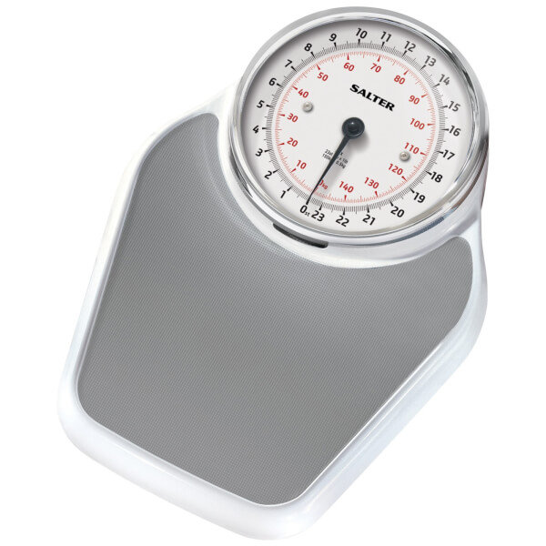 Salter Academy Mechanical Bathroom Scale - White: Image 1