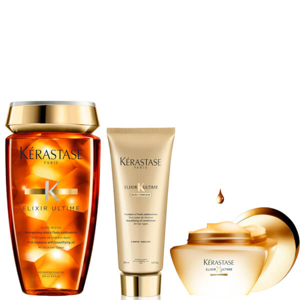 Kérastase Ultime Shampoo, Conditioner and Hair Mask