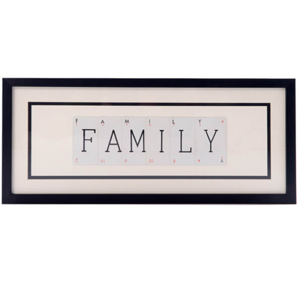 Vintage Playing Cards Family Framed Wall Art