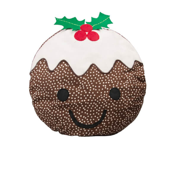 Sass & Belle Smiley Christmas Pudding Cushion