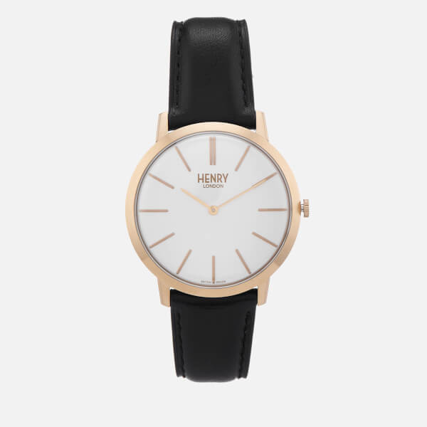 Henry London Men's 40mm Iconic Watch - Black