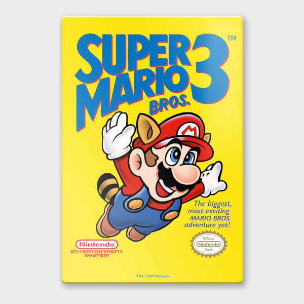 Nintendo Super Mario 3 Chromalux High Gloss Metal Poster