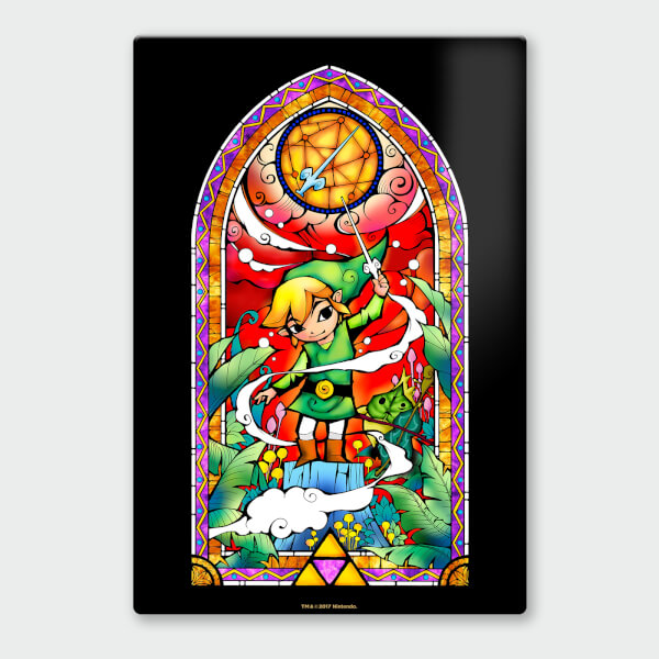 Nintendo Legend of Zelda Rapier Chromalux High Gloss Metal Poster