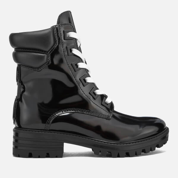 Kendall + Kylie Women's East Leather Lace Up Boots - Black