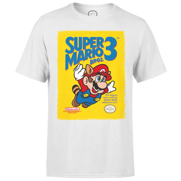 Nintendo Super Mario Bros 3 Men's White T-Shirt