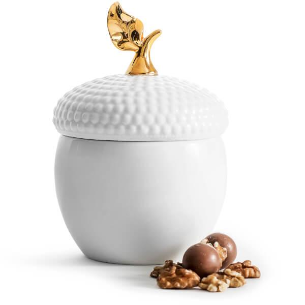 Sagaform Ceramic Acorn Storage Jar - White