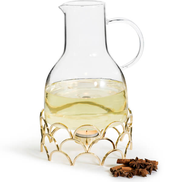 Sagaform Mulled Wine Jug with Gold Warmer (1.2L)