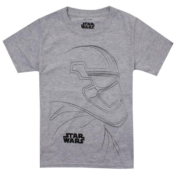 T-Shirt Enfant Star Wars Trooper Outline Les Derniers Jedi - Gris Clair Chiné - 9-10 Years - Gris