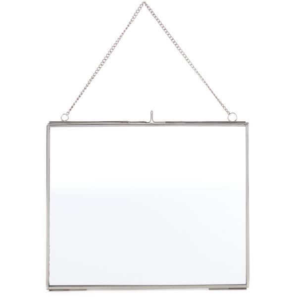 Nkuku Kiko Glass Frame - Silver - Landscape 8 x 10 Inch (20 x 25cm)
