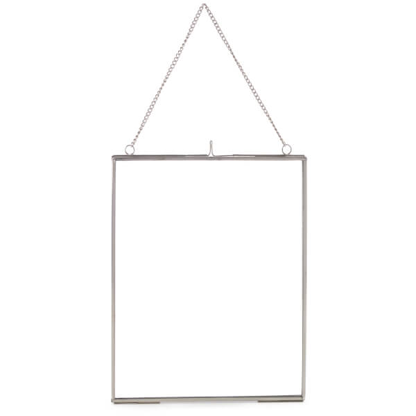 Nkuku Kiko Glass Frame - Silver - Portrait 8 x 10 Inch (20 x 25cm ...