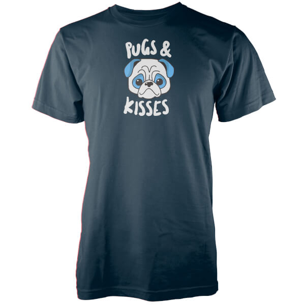 Pugs And Kisses Navy T-Shirt