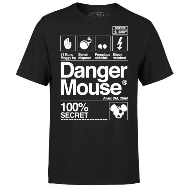 Danger Mouse 100% Secret T-Shirt - Black