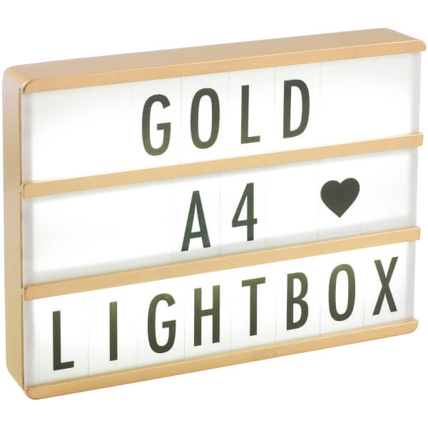 a4 premium wood cinematic lightbox gold iwoot. Black Bedroom Furniture Sets. Home Design Ideas