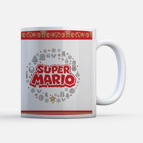 Nintendo Super Mario Wreath Logo Mug