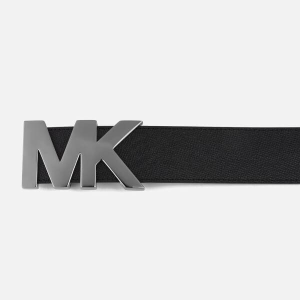 cb8d57b9e403 ... order michael kors mens mk logo belt black image 3 72c9c 5326e
