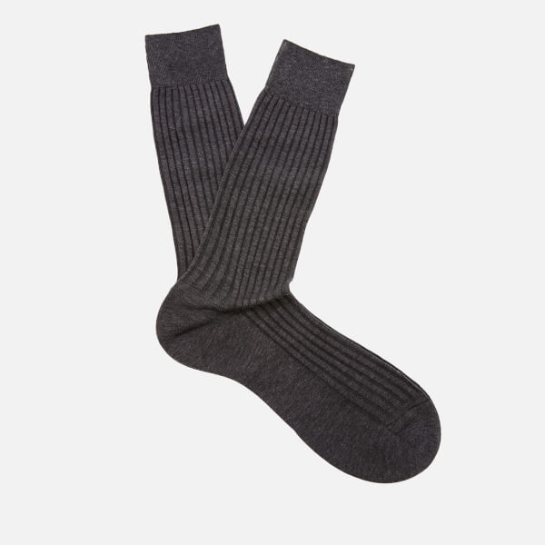 Pantherella Men's Danvers Classic Cotton Socks - Dark Grey