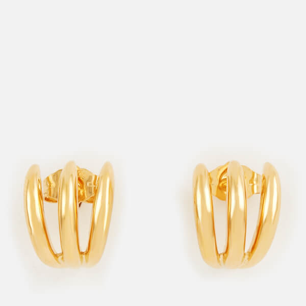 Missoma Women's Gold Claw Studs - Gold