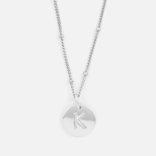 Missoma Women's Silver 'K' Initial Necklace - Silver