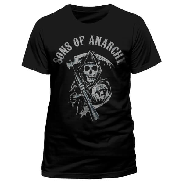 Sons of Anarchy Men's Logo T-Shirt - Grey