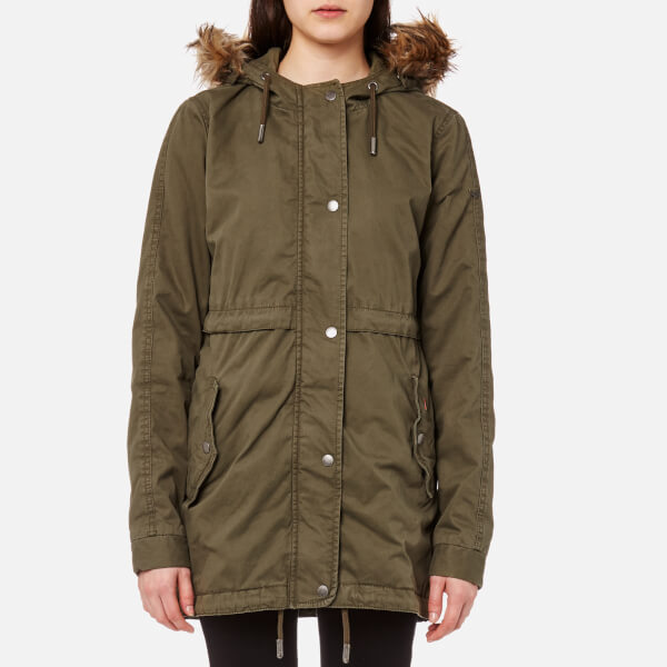 Olive Superdry Parka Lined Army Women's Quilt Rookie Womens wrzFxYqrH