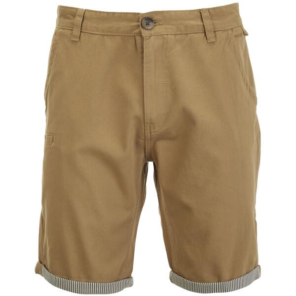 Brave Soul Men's Hansen Tick Chino Shorts - Stone