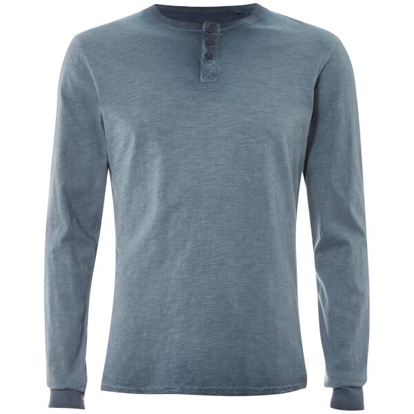 Threadbare Men's Austin Grandad Long Sleeve Top - Denim