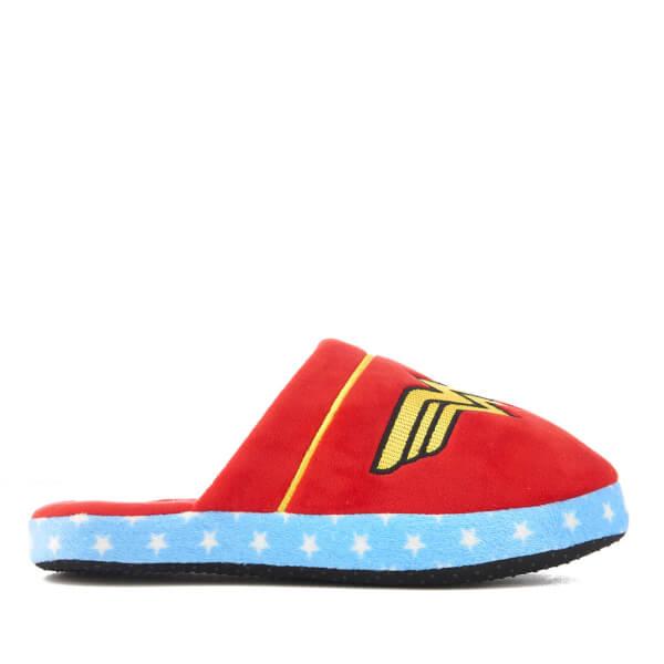 DC Comics Women's Wonder Woman Slippers - Red