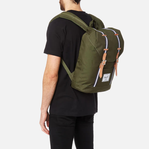 58ea51dce7a2 Herschel Supply Co. Men s Retreat Backpack - Forest Green Veggie Tan  Leather  Image