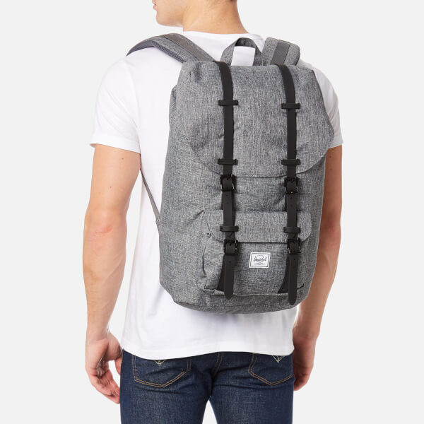 a19c300f3f96 Herschel Supply Co. Men s Little America Backpack - Raven Crosshatch Black  Rubber  Image