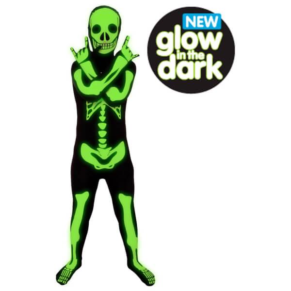 Morphsuit Enfant Squelette Phosphorescent - Noir - L - Noir