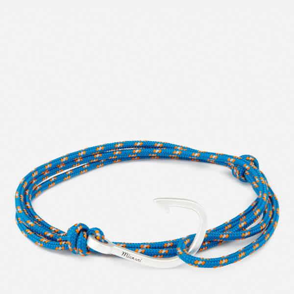 Miansai Men's Rope Bracelet with Silver Hook - Caribbean