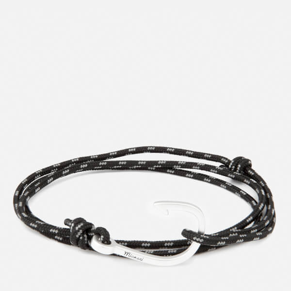 Miansai Men's Rope Bracelet with Silver Hook - Asphalt