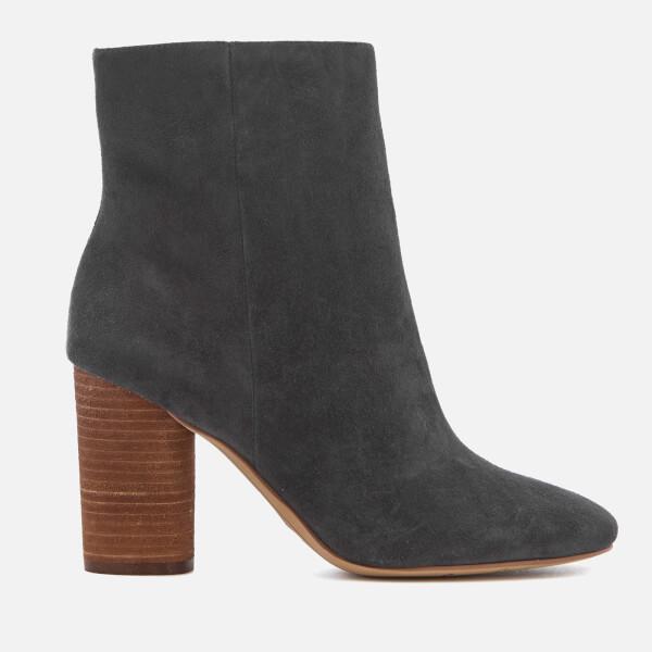 Sam Edelman Women's Corra Suede Heeled Ankle Boots - Asphalt