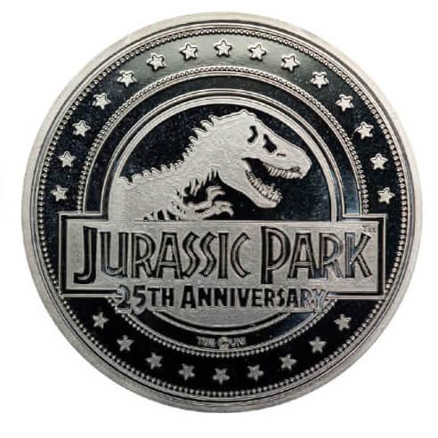 Pièce de Monnaie de Collection Jurassic Park - Édition Limitée Argentée