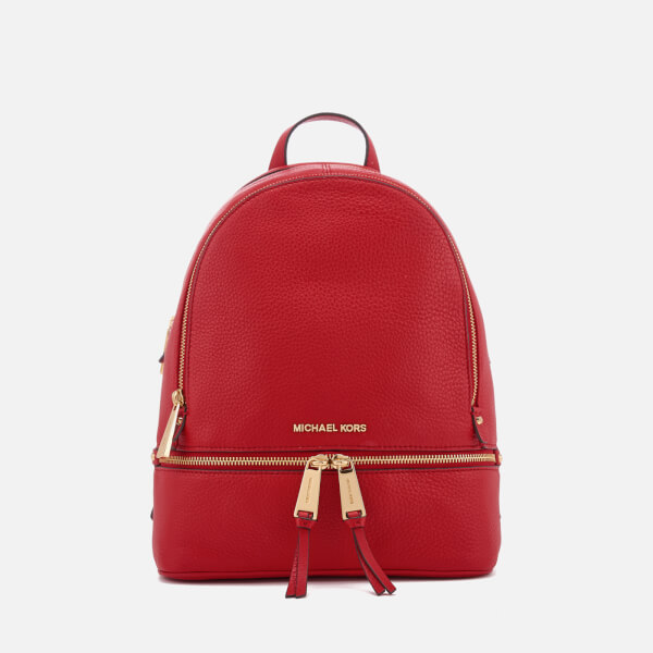 4cf602687d10 MICHAEL MICHAEL KORS Women's Rhea Zip Medium Backpack - Bright Red: Image 1
